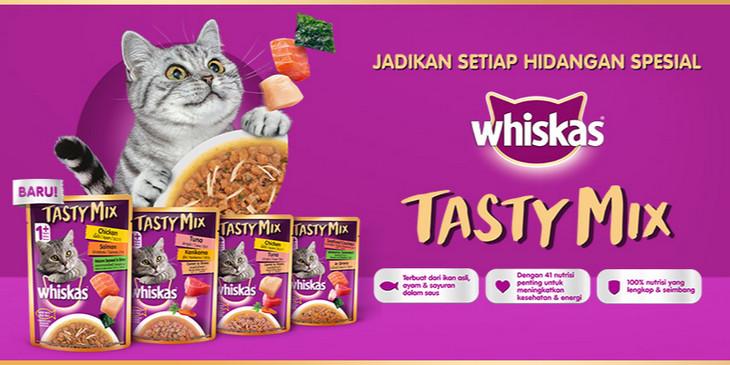 Makanan penggemuk kucing merek Whiskas